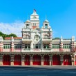 Vintage retro fire station building — Stock Photo #66117523