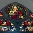 Stained-glass window in old church building  — Stock Photo #66118337