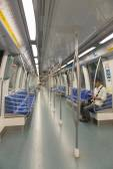 Metro or underground modern train inside  — Stockfoto