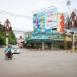Intersection in central Krabi Town, with giant caveman statues, — Stock Photo #73412505