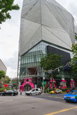 The bold, ultra-modern architecture of Orchard Central, Singapor — Stockfoto