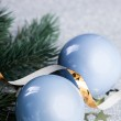 Branch of Christmas tree with decoration ball  — Stock Photo #59907733