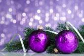 Christmas decoration on sparkles background — 图库照片