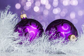 Christmas decoration on sparkles background — Stock Photo