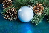 Christmas decoration with fir-tree  — Stockfoto