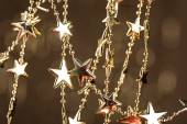 Christmas stars on sparkles background — Foto Stock