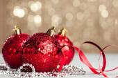 Christmas ball on shiny background — Стоковое фото