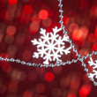 Silver snowflake on shiny background — Stock Photo #59911203