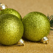Branch of Christmas tree with decoration ball — Stock Photo #59911279
