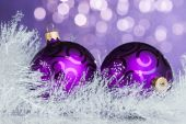 Christmas decoration on sparkles background — ストック写真