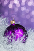 Christmas decoration on sparkles background — Stockfoto