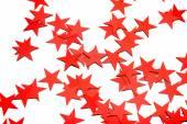 Muchas estrellas sobre fondo blanco — Foto de Stock