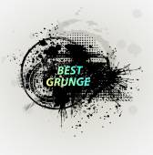 Grunge banner with an inky dribble strip with copy space — Stock Vector