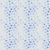 Seamless pattern with watercolor snowflakes — Stock Vector