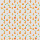 Vector seamless pattern with pears — Stock Vector