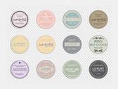 Vintage grunge labels — Stock Vector