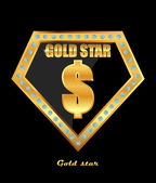 Golden dollar sign — Stock Vector