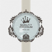 Vintage label with crown — Stock Vector