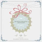 Holiday Invitation card — Stock Vector