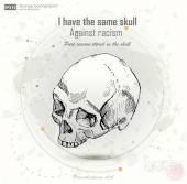 Ancient human skull — Stock Vector