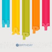 Happy birthday flat — Stock Vector
