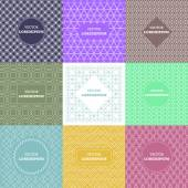 Set of outline emblems and badges — Wektor stockowy