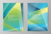Set of horizontal of brochures in modern style — Stock Vector