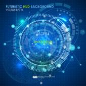 Abstract Futuristic blue virtual interface — Stock Vector