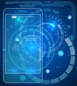 Futuristic mobile interface. — Stock Vector