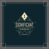 Calligraphic elegant ornament lines — Stock Vector