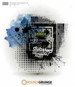 Grunge background in black color — Vetor de Stock