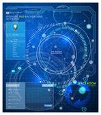 Futuristic HUD background — Stock Vector