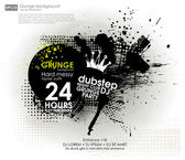 Grunge background in black color — Stock Vector