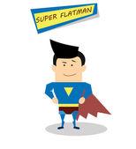 Superman in flat design — Stock Vector