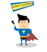 Super journalist in flat design — Stock Vector