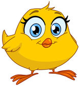 Smiling chick — Stock Vector