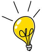 Light bulb doodle — Stock Vector
