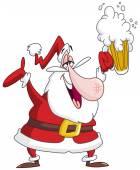 Drunk santa claus — Stock Vector
