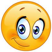 Half smile emoticon — Stok Vektör