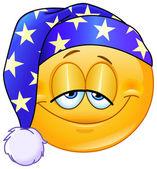 Good night emoticon — Stock Vector