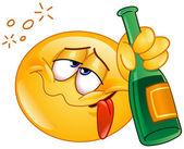Drunk emoticon — Stock Vector