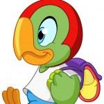 School parrot — Stock Vector #78008004