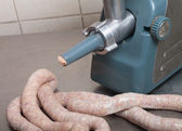 Making Sausage — Stock Photo