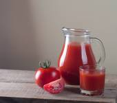 Jar with tomato — Stock Photo