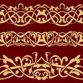 Gold floral seamless-grenze — Stockvektor