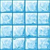 Blue ice seamless pattern — Stock Vector