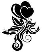 Valentine day floral design element — Stock Vector
