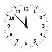 Black simple clock — Vetor de Stock