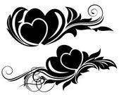 Valentine day floral design element — 图库矢量图片