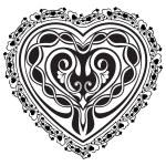 Valentine Day tatto heart — Stock Vector #61560083
